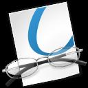 document, glasses, file icon