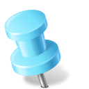 Map Marker Push Pin 2 Left Azure icon