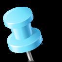 Map Marker Push Pin 2 Left Azure icon