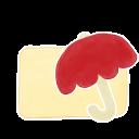 Folder Vanilla Umbrella icon
