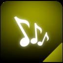 music,glow icon