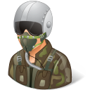 pilotmilitary, male icon