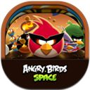 Angrybirdsspace, Flat, Round icon