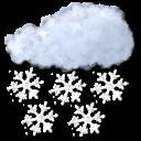 heavy, snow icon