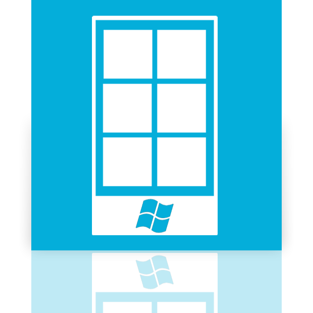 mirror, windows, phone icon