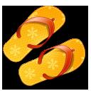 summer, flip, flops icon