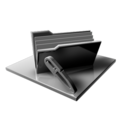 Silver Folder Edit Files icon