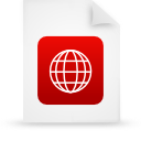 document, paper, file, red icon