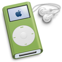 mini, ipod, green icon