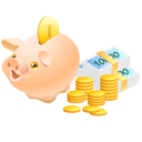money,pig,cash icon