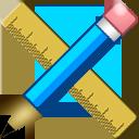 pencil, scale icon