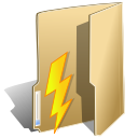 folder, power, lightning icon