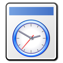 time, file, clock, temporary icon