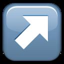arrow,right,up icon