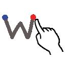 gestureworks, w, letter, stroke, lowercase icon