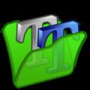 Folder green font2 icon