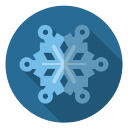 frost, snowflake, snow, xmas, christmas, blue, winter icon
