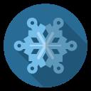 frost, snowflake, snow, xmas, christmas, blue, winter icon