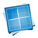 social, delicious, blueprint icon
