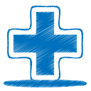 blue plus icon