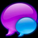 small,blue,balloon icon