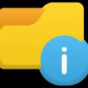 info, folder icon