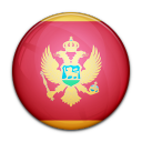 montenegro, country, flag icon