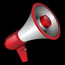announce, broadcast, megaphone, message icon