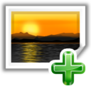 Actions insert image icon