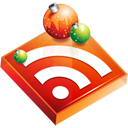 rss, subscribe, christmas, feed icon