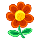 Flower Red Plant Icon Nature Icon Sets Icon Ninja