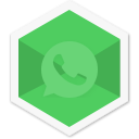 social, colorful, whatsapp, message, triangle, chat, app icon