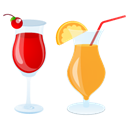 Cocktails, Summer icon