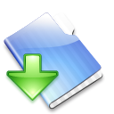 box, folder, drop icon
