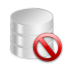Database, Delete icon