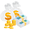 coin, money, bag, currency, cash icon