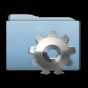Folder Blue Gear icon