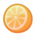 fresh, orange, juicy, tropical, citrus icon