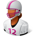 Dark, Female, Footballplayer icon