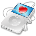 ipod video white favorite icon