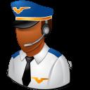 Occupations Pilot Male Dark icon