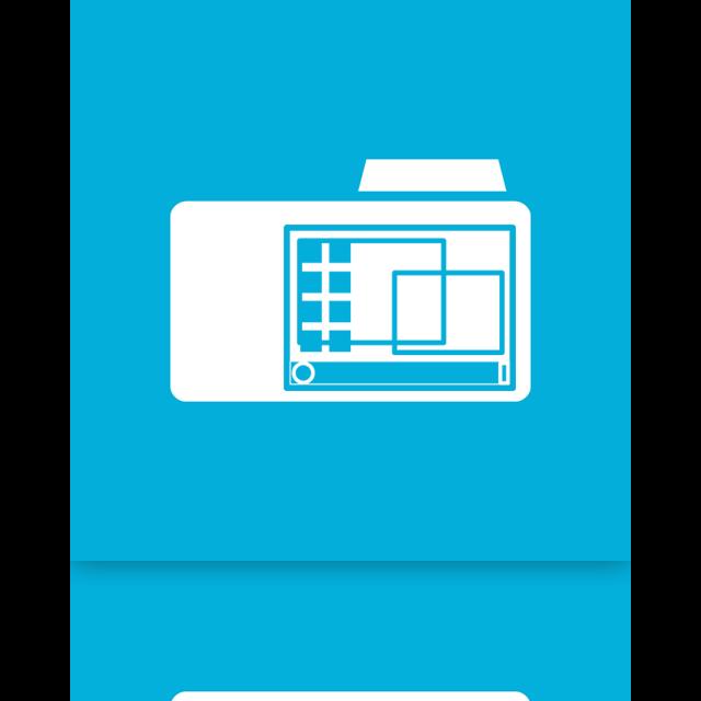 folder, desktop, mirror icon