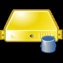 server,database,yellow icon