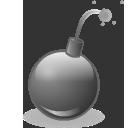 dis, bomb icon