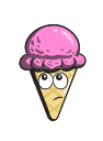 cream, cone, cartoon, emoji, ice icon