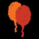 party, orange, scribble, baloon, balloon, red, birthday icon