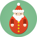 christmas, santa claus, santa icon
