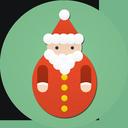 christmas, santa claus, santa icon