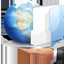 internet, hand, share, folder, fileshare icon