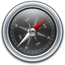 Black, Compass icon